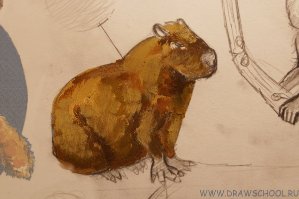 Поэтапные зарисовки животных