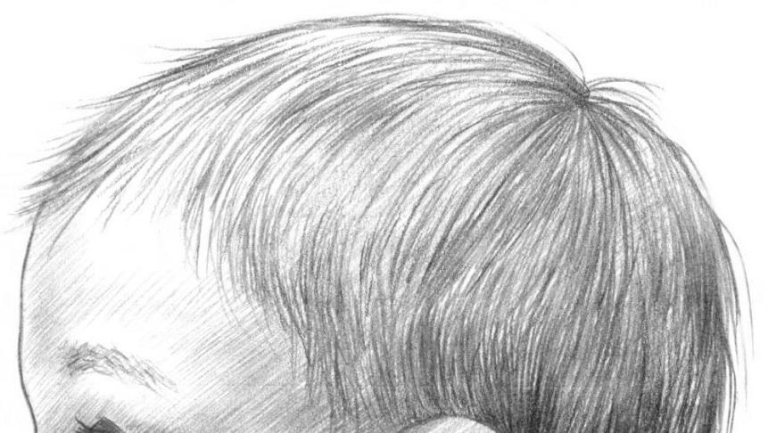 карандашом для детей, учимся рисовать.
