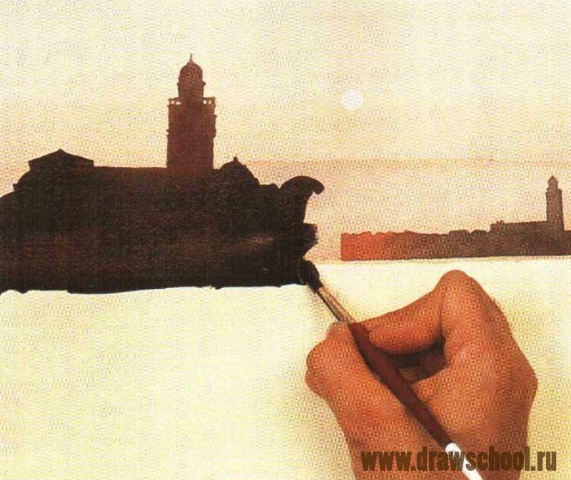 Как рисовать закат